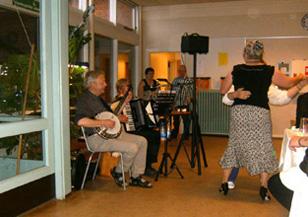 gamle danske danse harmonika banjo violin sømandssange gårdsange spillemandsmusik baggrundsmusik sølv- guldbryllup kulturarv høstfest julemusik