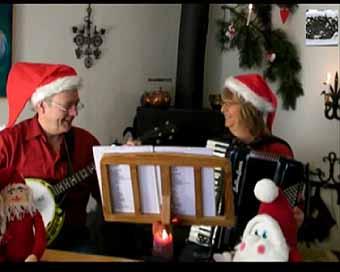 julemusik harmonika banjo violin søemandssange gårdsange